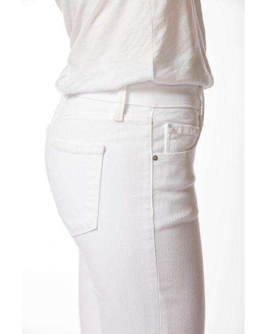 61a626a88a8f5 ... J Brand - White Mama J Skinny Maternity Jeans In Blanc - Lyst ...