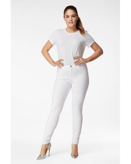 J Brand White Maria High-rise Skinny In Blanc