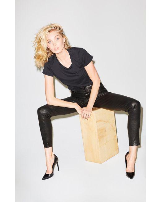 J Brand   Maria High-rise Super Skinny In Black Leather   Lyst