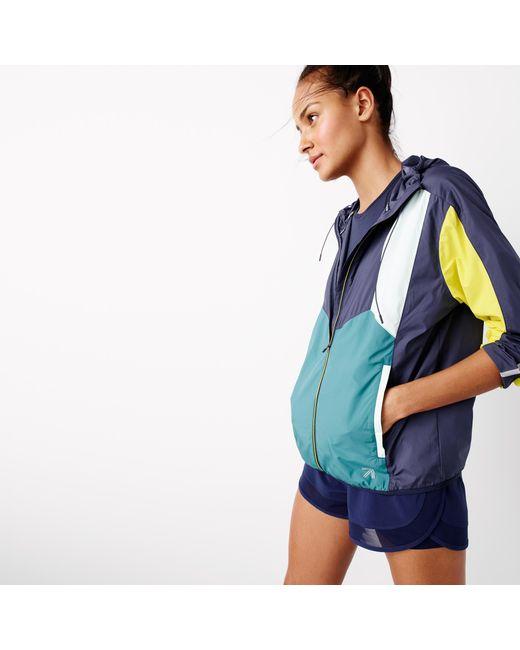 J.Crew | Blue New Balance Colorblock Windbreaker Jacket for Men | Lyst