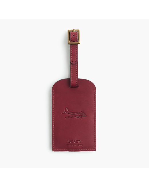J.Crew | Red Leather Luggage Tag | Lyst