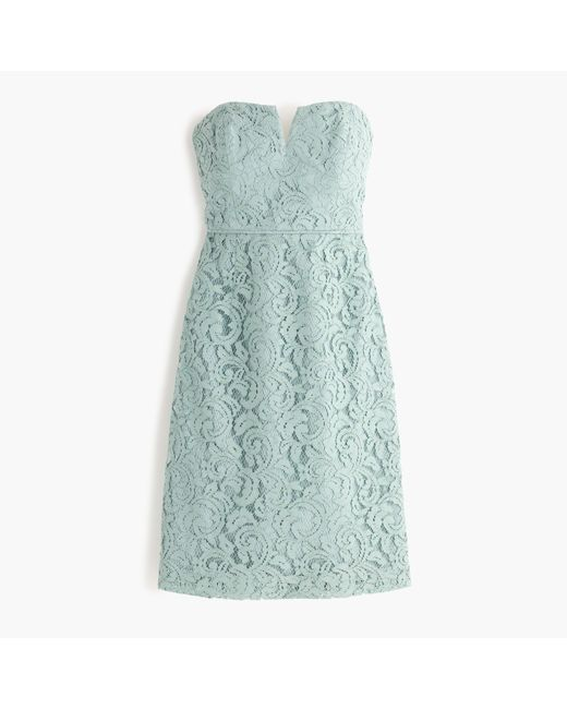 J.Crew | Gray Cathleen Dress In Leavers Lace | Lyst