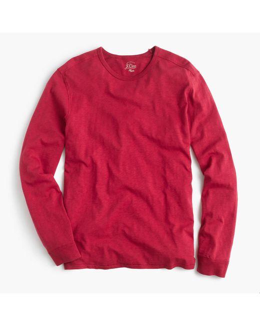J.Crew | Long-sleeve Textured Cotton T-shirt for Men | Lyst