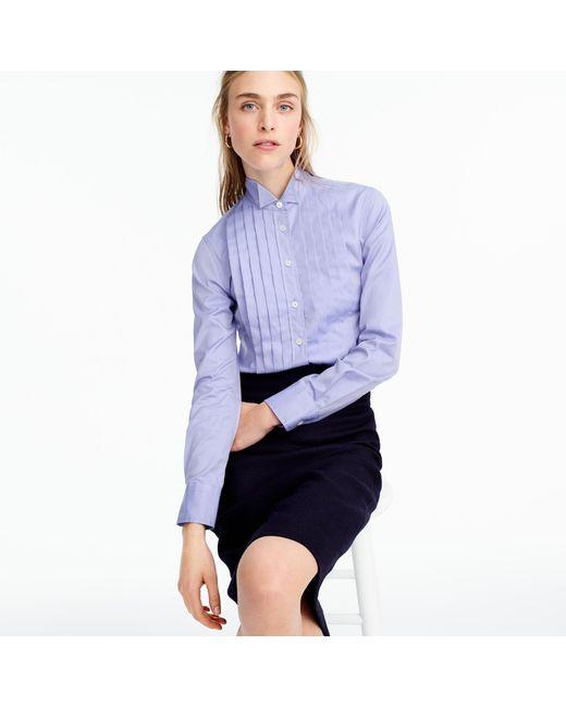 J.Crew - Blue Thomas Mason Pleated Cotton Shirt - Lyst