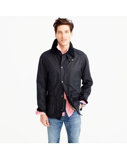 J.Crew - Blue Barbour Sylkoil Ashby Jacket for Men - Lyst