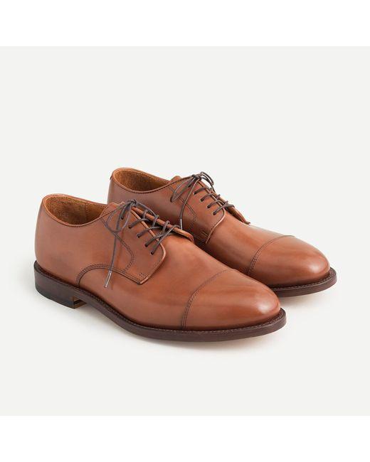 J.Crew Brown Ludlow Cap-toe Bluchers for men