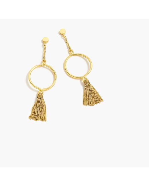 J.Crew - Metallic Circle And Tassel Earrings - Lyst