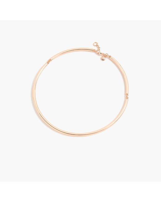 J.Crew   Metallic Simple Collar Necklace   Lyst