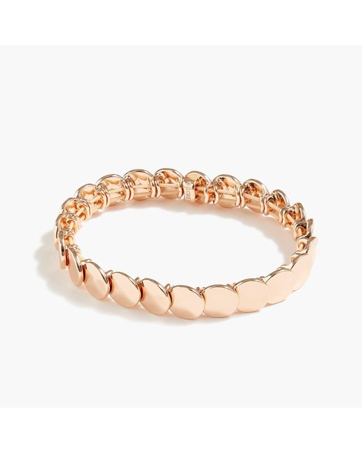 J.Crew - Metallic Stacked Circle Stretch Bracelet - Lyst