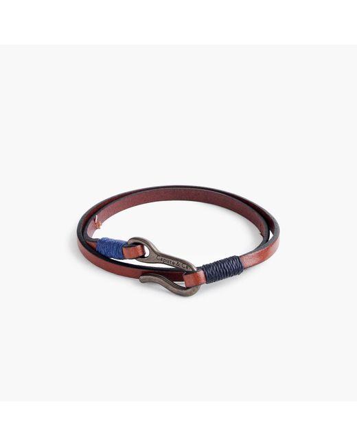 J.Crew | Brown Caputo & Co. Leather Double-wrap Bracelet | Lyst