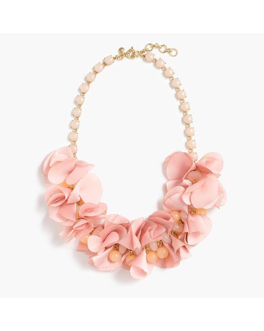 J.Crew   Pink Pretty Petal Necklace   Lyst