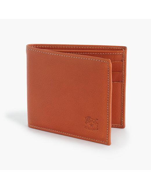 J.Crew   Brown Il Bisonte Leather Card Wallet for Men   Lyst