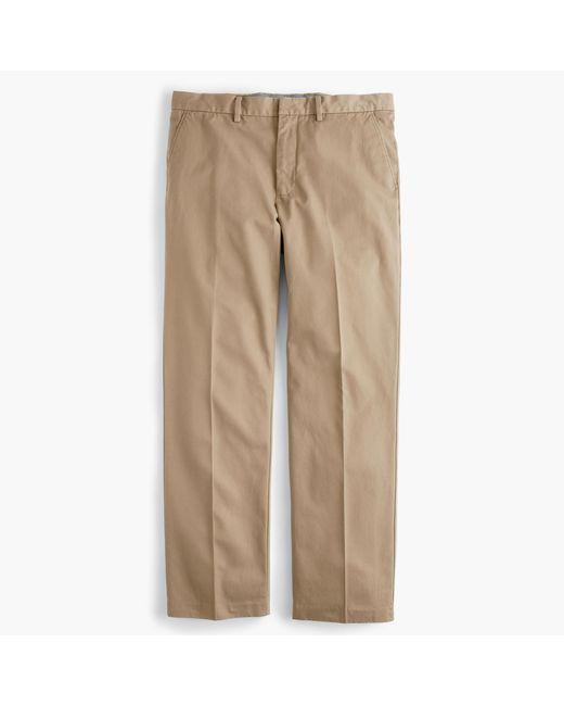 J.Crew | Brown Bowery Classic Pant In Cotton Twill for Men | Lyst