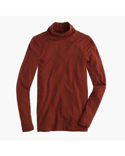J.Crew   Red Tissue Turtleneck T-shirt   Lyst