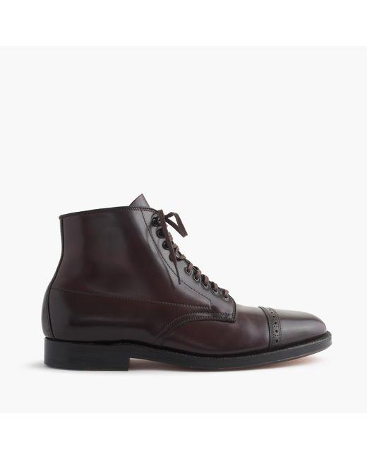 J.Crew | Purple Alden Cap-toe Cordovan Boots for Men | Lyst