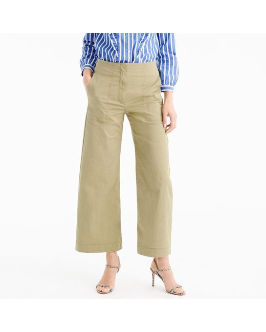 J.Crew | Natural Cropped Pant In Stretch Chino | Lyst