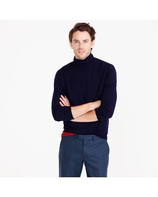 J.Crew   Blue Merino Wool Turtleneck Sweater for Men   Lyst