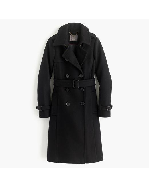 J.Crew   Black Icon Trench Coat In Italian Wool Cashmere   Lyst