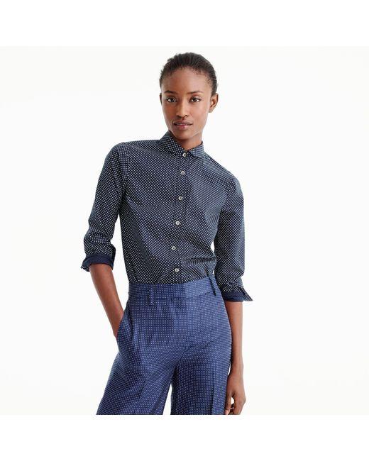 J.Crew   Blue Tall Perfect Shirt In Polka Dot for Men   Lyst