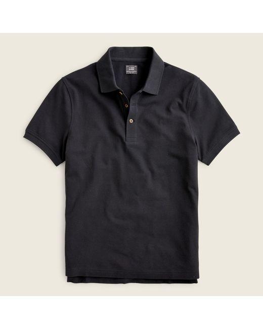 J.Crew Black Bowery Egyptian Cotton Pique Polo Shirt for men