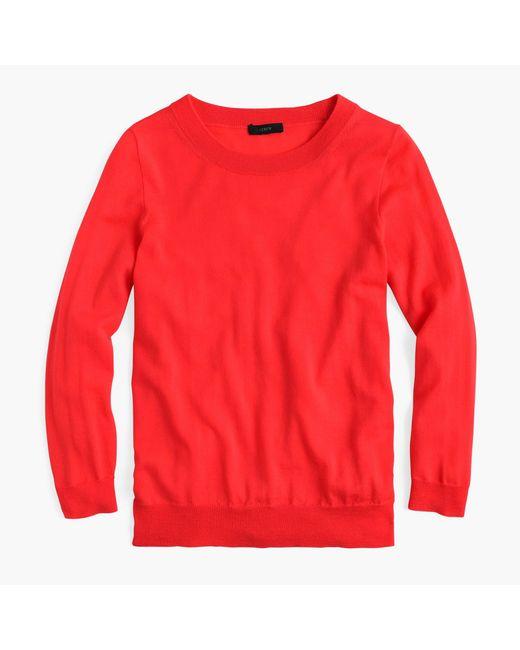 J.Crew - Red Seasonless Tippi Sweater - Lyst