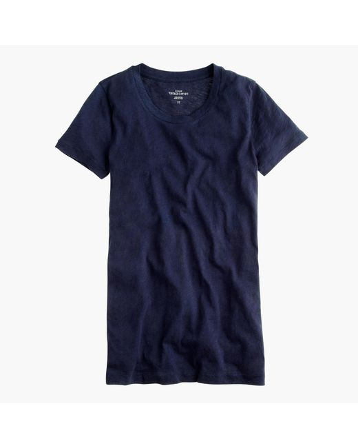 J.Crew | Blue Vintage Cotton T-shirt | Lyst