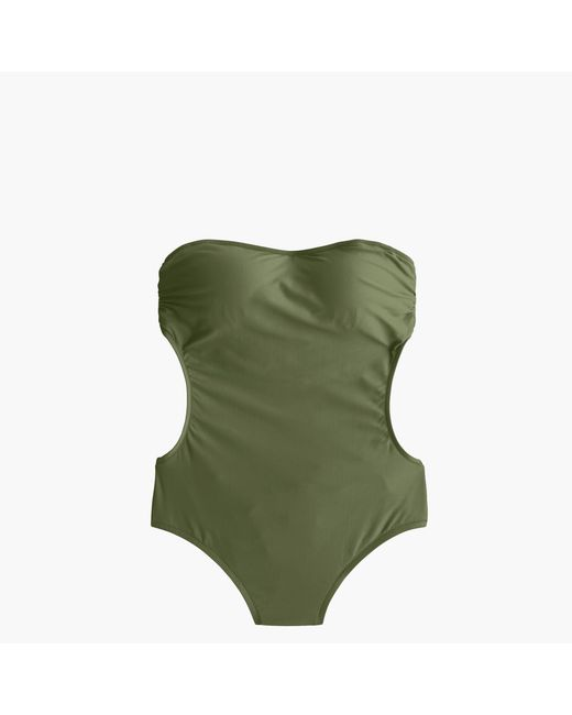 J.Crew | Green Cutout One-piece Swimsuit | Lyst