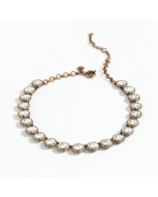 J.Crew | Metallic Crystal Venus Flytrap Necklace | Lyst