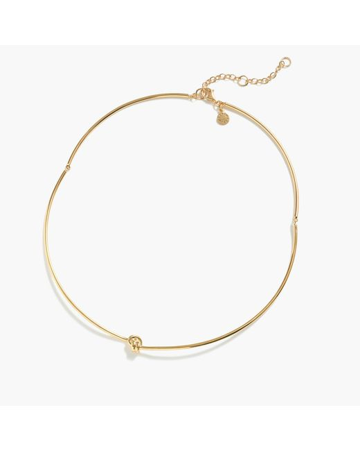 J.Crew - Metallic Demi-fine 14k Gold-plated Knot Collar Necklace - Lyst