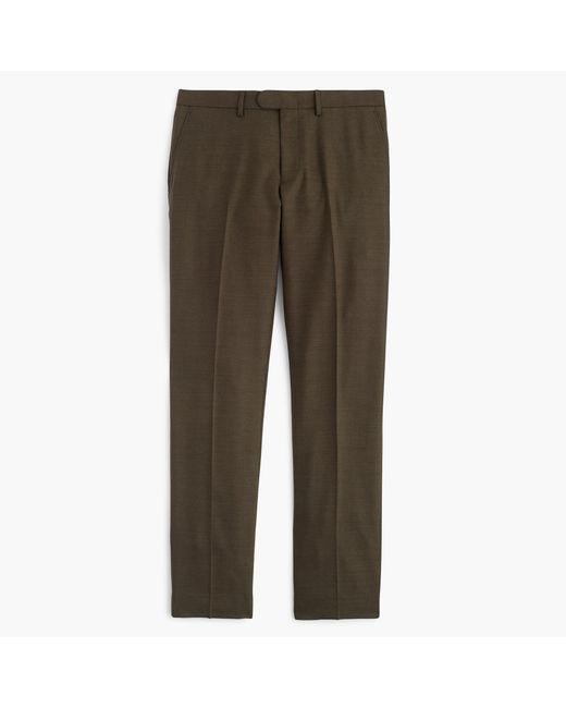 J.Crew | Brown Bowery Slim Pant In Four-season Wool for Men | Lyst