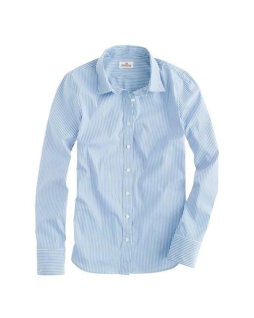 J.Crew | Blue Tall Stretch Perfect Shirt In Classic Stripe | Lyst