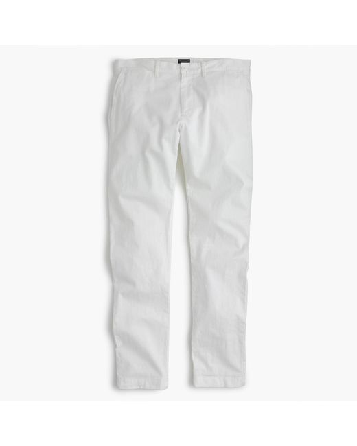 J.Crew | White Stretch Chino Pant In 484 Slim Fit for Men | Lyst