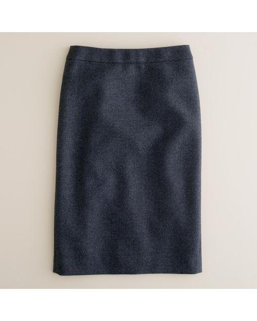 J.Crew   Black No. 2 Pencil Skirt In Double-serge Wool   Lyst