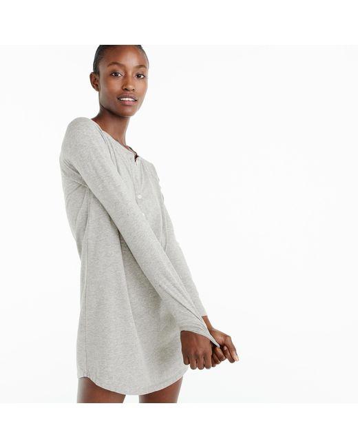 J.Crew   Gray Knit Nightdress   Lyst