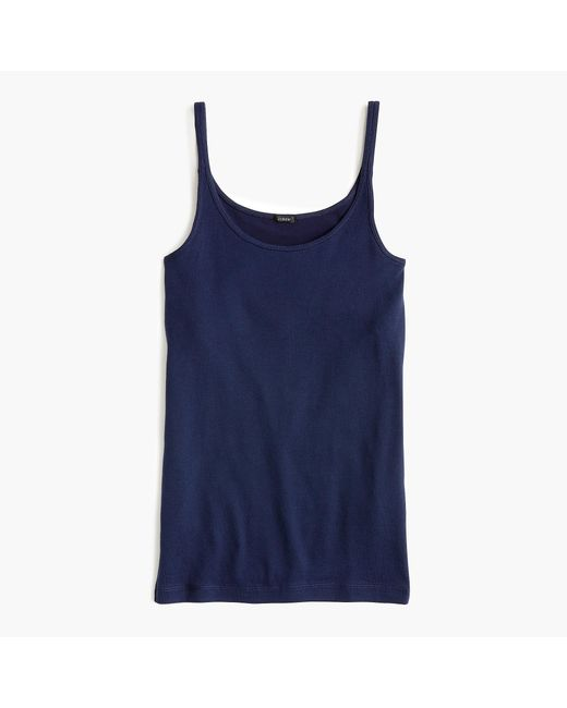 J.Crew - Blue Slim Perfect Tank Top With Built-in Bra - Lyst
