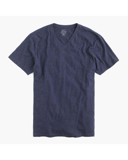 J.Crew - Blue Slim Broken-in V-neck T-shirt for Men - Lyst