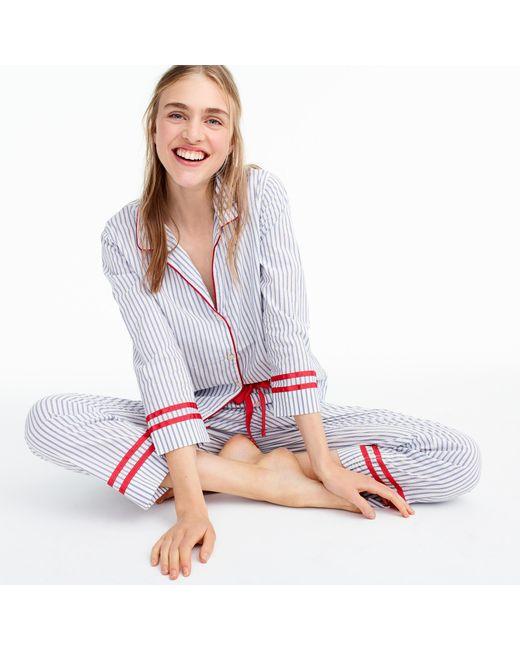 J.Crew | White Tipped Cotton Pajama Set | Lyst