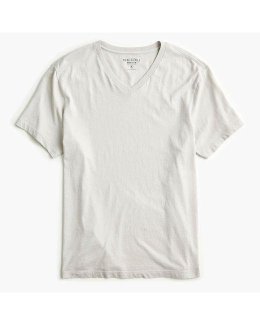J.Crew - Gray Tall Mercantile Broken-in V-neck T-shirt for Men - Lyst