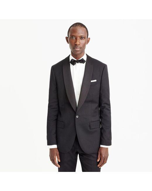 J.Crew | Black Ludlow Shawl-collar Tuxedo Jacket In Italian Wool for Men | Lyst