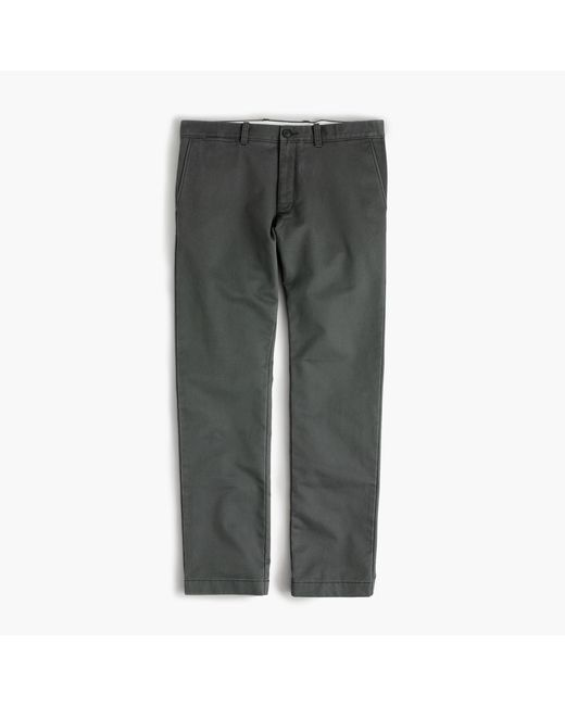 J.Crew | Gray Essential Chino Pant In 484 Slim Fit for Men | Lyst