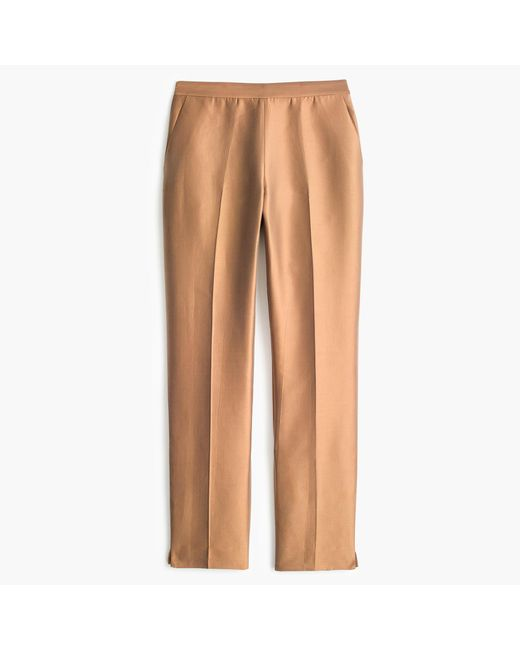 J.Crew | Brown Collection Petite Cigarette Pant In Heavy Shantung | Lyst