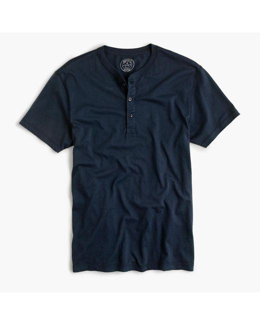 J.Crew   Blue Slim Broken-in Short-sleeve Henley for Men   Lyst