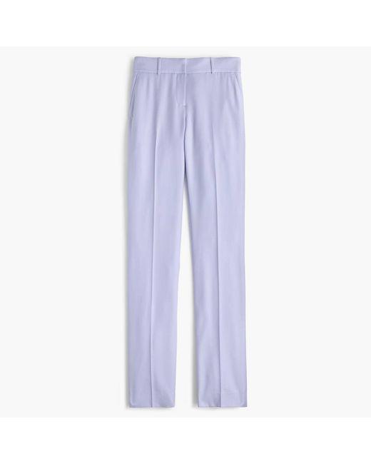 J.Crew | Purple Petite Tailored Trouser In Italian Super 120s Wool | Lyst