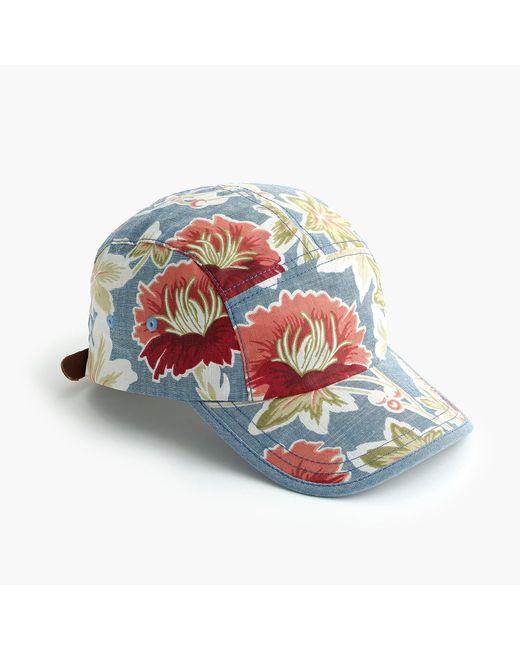 J.Crew - Blue Floral Chambray Ball Cap - Lyst