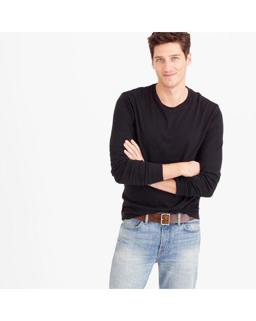 J.Crew | Black Tall Broken-in Long-sleeve T-shirt for Men | Lyst