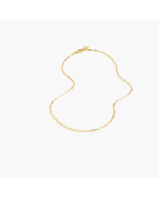 J.Crew - Metallic Demi-fine 14k Gold-plated Short Chain Necklace - Lyst