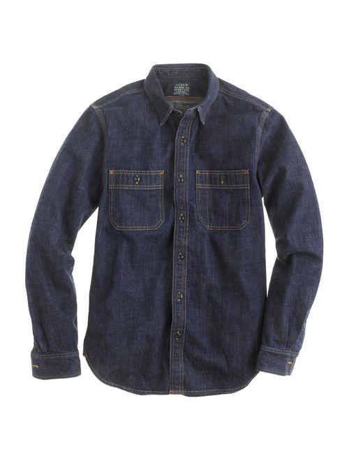 J.Crew   Blue Selvedge Indigo Denim Shirt for Men   Lyst