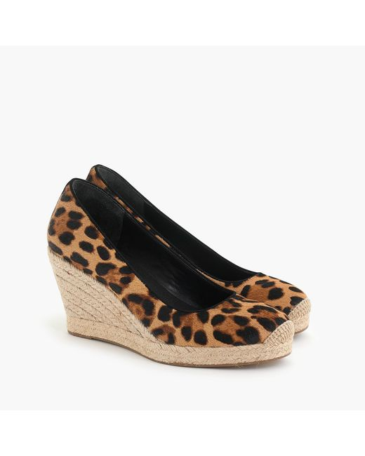 bf1d682d7f5 Women's Brown Seville Espadrille Wedges In Leopard Calf Hair