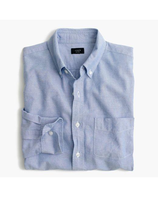 J.Crew | Blue Tall Vintage Oxford Shirt for Men | Lyst