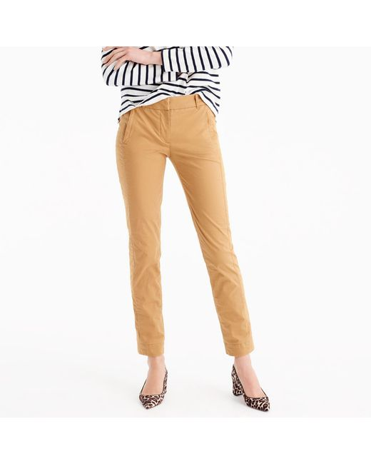 J.Crew   Natural Tall Maddie Pant In Chino   Lyst